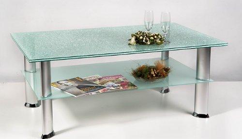 AgiondaR Maine Crashglas Couchtisch Tisch Amazonde Kche Haushalt