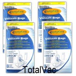 Oreck Micro Allergen Vacuum Bags - 32 Bags