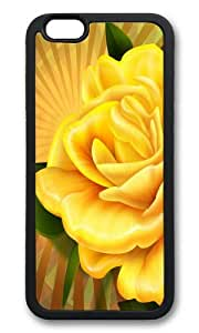 iPhone 6 Plus Case,VUTTOO Stylish Yellow Rose Soft Case For Apple iPhone 6 Plus (5.5 Inch) - TPU Black
