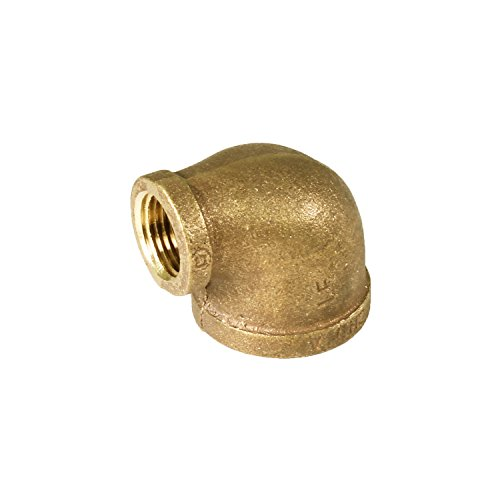 Elbow Reducing Brass (Everflow BRRL0343-NL 3/4-Inch x 1/2-Inch Lead Free 90-Degree Brass Reducing Elbow with Female Threaded Ends, Brass Construction, Higher Corrosion Resistance Economical & Easy to Install)