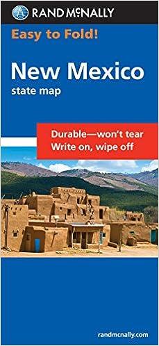 Easy To Fold New Mexico Rand McNally Easy To Fold Rand McNally - Rand mcnally easy to fold maps