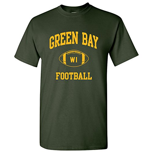 Green Bay Classic Football Arch Basic Cotton T-Shirt - X-Large - - Classic Apparel Green