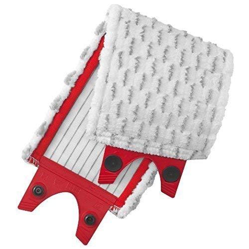 Vileda - Recambio para mopa Ultramax, mopa de microfibras 2en1, color blanco y rojo