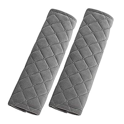 Forala Car Seatbelt Pads,Soft Cotton Blend Shoulder Strap Belt Covers Harness Protector For Cars/Bags/Cameras/,Perfect Stress Relax for Your Neck (Grey): Automotive