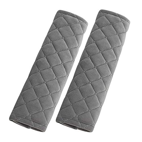 Covers Belt Car Seat (Alusbell Car Seatbelt Pads,Soft Cotton Blend Shoulder Strap Belt Covers Harness Protector For Cars/Bags/Cameras/,Perfect Stress Relax for Your Neck (Grey))