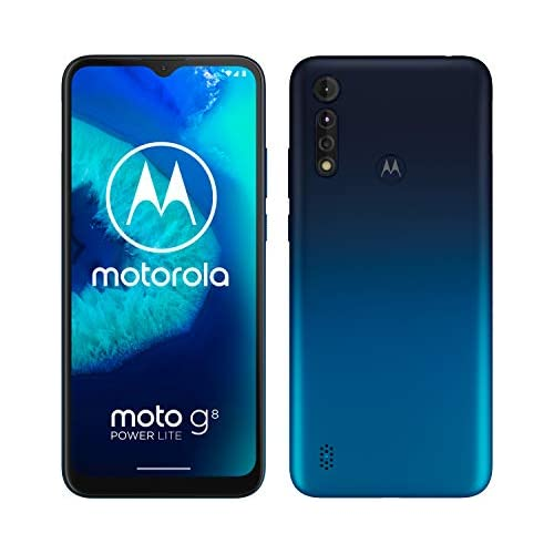 chollos oferta descuentos barato Motorola Moto G8 Power Lite Pantalla 6 5 HD procesador octa core 2 3GHz cámara triple de 16MP batería de 5000 mAH Dual SIM 4 64GB Android 9 Azul