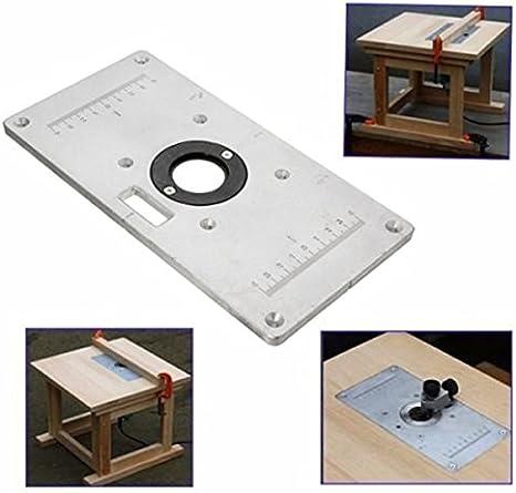 235 mm x 120 mm x 8 mm de aluminio mesa de fresadora con plato ...