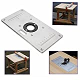 Letbo New 235mm x 120mm x 8mm Aluminum Router Table Insert Plate For Woodworking Benches