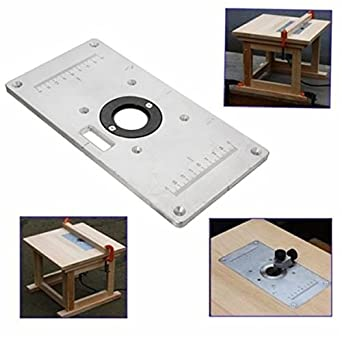 Amazon letbo new 235mm x 120mm x 8mm aluminum router table letbo new 235mm x 120mm x 8mm aluminum router table insert plate for woodworking benches keyboard keysfo Choice Image