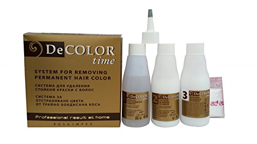 Hair Colour Remover - Removes Colour Build-up without Damaging Hair by DeColor Time Rosa Impex