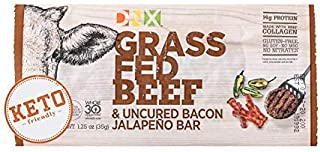 product image for DNX Bar Grass Fed Beef & Uncured Bacon Jalapeno (12 Pack)- High Protein Meat Snack, Keto, Paleo, Whole30, Gluten-Free, Dairy-Free, Grain-Free, Nitrate-Free, Non-GMO, No Soy, Low Carb