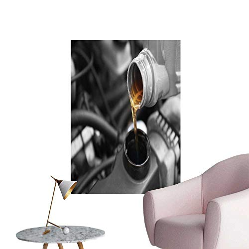 SeptSonne Wall Stickers for Living Room Pour Oil to car Engine Vinyl Wall Stickers Print,28