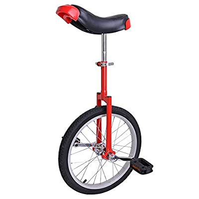 """Amazing Red 18 Inch In 18"""" Mountain Bike Wheel Frame Unicycle Cycling Bike With Comfortable Release Saddle Seat"""