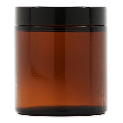 Medium Amber Glass Storage Jar with Air-Tight Lid