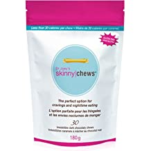 Dr Joey's SKINNYCHEWS - Premium dark chocolate candies that help alleviate after dinner cravings and promote appetite control with less than 20 calories per chew. 30 chews per bag