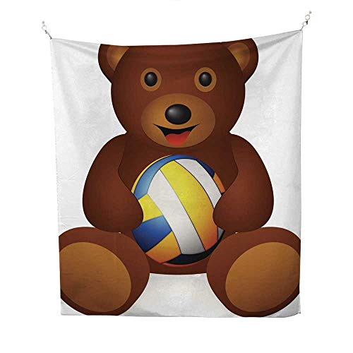 25 Home Decor Tye dye Tapestries Bear Volleyball Ball Greatful Dead Tapestries 70W x 84L ()
