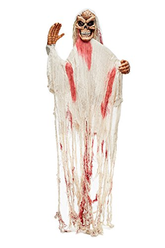 [Animated Hanging Undead Ghost Witch Skeleton Scary Halloween Party Decorations (Beige, Pink, Flesh Color)] (Halloween Decorations On A Budget)