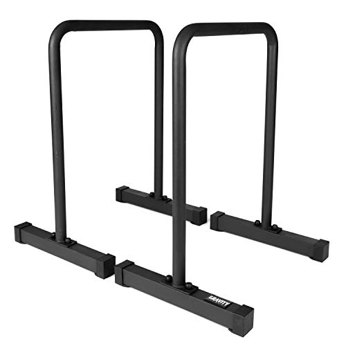 Gravity Fitness XL Pro Parallettes 2.0 – New 38mm Handles – Dip Bars – for Calisthenics, Home Commercial use