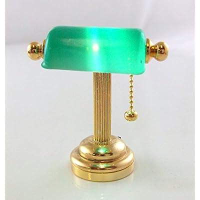 Wonham Dolls House Miniature 1:12 Scale Lighting Led Battery Light Green Desk Lamp: Toys & Games