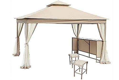 The Outdoor Patio Store Laurel Park High-Grade 300d Gazebo Replacement Canopy w/Grommet Holes (Sears Patio Outdoor)