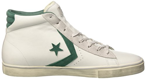 a Collo Converse mouse white A green Sneaker Uomo Alto Dust 158930c Bianco wwtfAqz