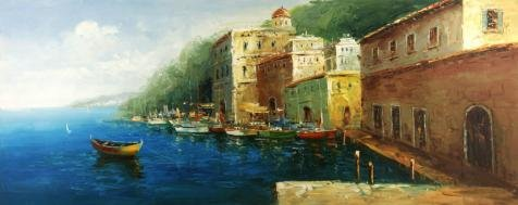 Costume Uk Ron Weasley ('View Of The Harbor' Oil Painting, 8x20 Inch / 20x51 Cm ,printed On Perfect Effect Canvas ,this High Quality Art Decorative Prints On Canvas Is Perfectly Suitalbe For Home Office)