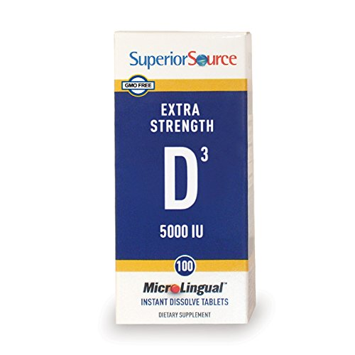 - Superior Source Extra Strength Vitamin D3 5,000 IU Tablet, 100 Count (Packaging May Vary)