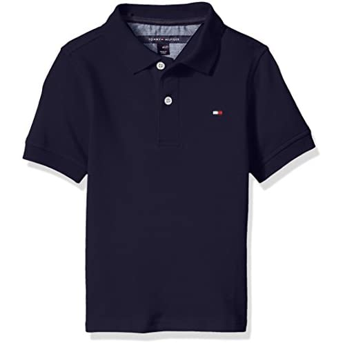 hot sell Tommy Hilfiger Big Boys' Stretch Ivy Polo, Masters Navy, Small for sale