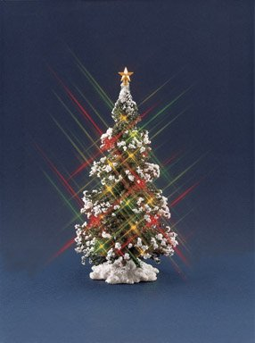 3 each mini lighted christmas tree 74717