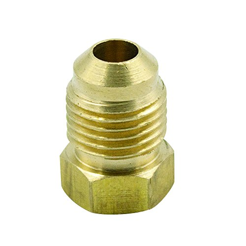 Legines Brass SAE 45 Degree Flare Tube Fitting, Flare Plug, 3/8