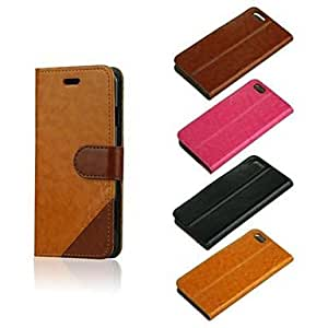 DD 5.5 Inch Two-Tone PU Wallet Leather Case for iPhone 6 (Assorted Colors) , Khaki