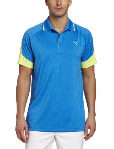 (Puma Golf NA Men's Color Block Jacquard Polo Tee, Directoire Blue, Medium)