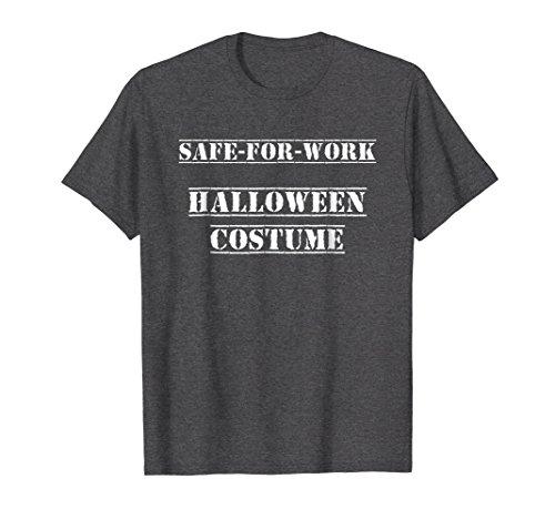 Mens Safe For Work Halloween Costume T-Shirt (white) Large Dark Heather -