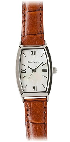 PIERRE LANNIER press watch Tonneau Watch Silver / Croco tea P131D690 C44 Ladies