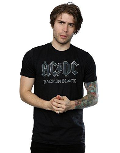 AC/DC Men's Back in Black (Ac Dc Crew T-shirts)