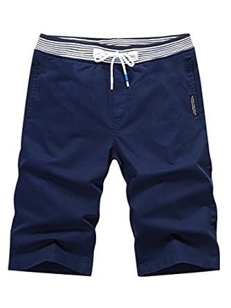 2477cfecc83a1 SOIXANTE Bermuda Homme Taille élastique Short Style décontracté Tissu Fin  pour l'été: Amazon.fr: Vêtements et accessoires