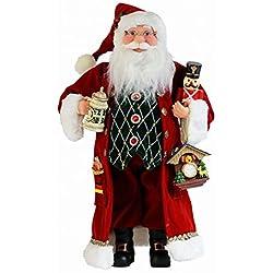 16 Inch Standing Cuckoo Clock Santa Claus Christmas Figurine Figure Decoration 16709