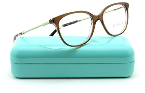 Discount Eyeglass Frames - Tiffany & Co. TF 2168-F Women Square Eyeglasses RX - able Frame Asin Fit (Brown Pink 8255, 54)