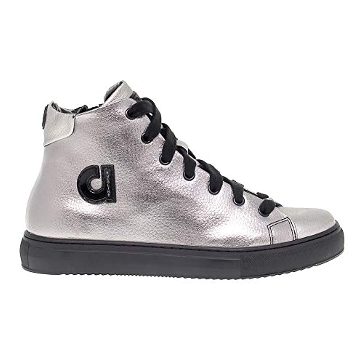 Ruco Line Hi Top Sneakers Donna Ruco2815 Pelle Argento