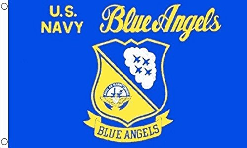 1000 Flags Limited Blue Angels U.S. Navy Flight Demonstration Squadron Flag 5'x3' (150cm x 90cm) - Woven Polyester
