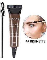 Eyebrow Dye Cream, Professional Eyebrow Gel Waterproof Eyebrow Dye Eyebrow Gel Tint Eyebrow Brush(04#)