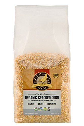 Scratch and Peck Feeds - Cluckin' Good Organic Cracked Corn - Organic and Non-GMO Project Verified - 8-lbs