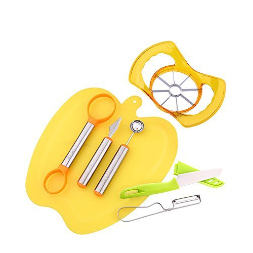 Fruit Carving Garnishing Tools Set Cutter Tools Kitchen Pretty Sturdy Easy To Use Cutting Many Types Of Melons