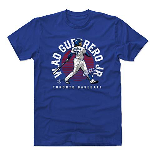 (500 LEVEL Vlad Guerrero Jr. Cotton Shirt (X-Large, Royal Blue) - Toronto Baseball Men's Apparel - Vlad Guerrero Jr. Emblem R WHT)