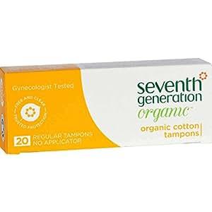 Seventh Generation - Chlorine Free Organic Cotton Tampons - Regular, 20 Tampons