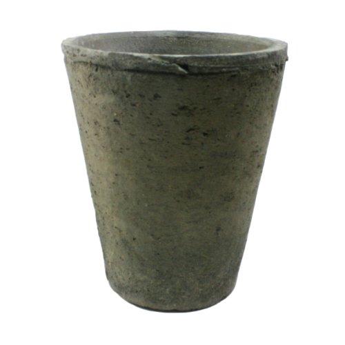 HomArt Rustic Terra Cotta Rose Pot, Medium, Moss Grey, (Medium Terra Cotta)