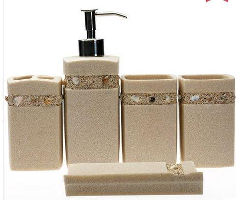 The creative resin sanitary bath wash gargle suit, five-p...