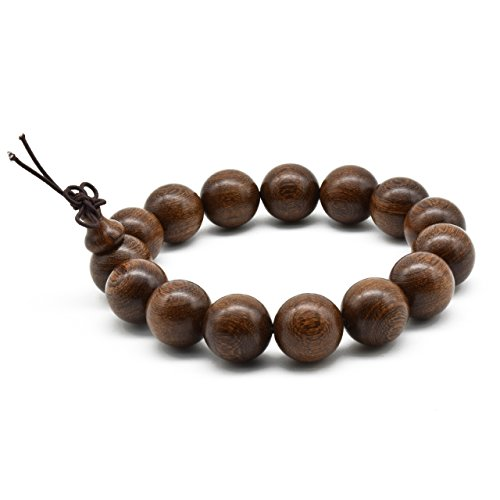Zen Dear Unisex Natural Silkwood Tibetan Buddhism Meditation Prayer Bead Necklace Japa Mala Beads Bracelets (15mm x 15 - Monterey Jewelry Stores