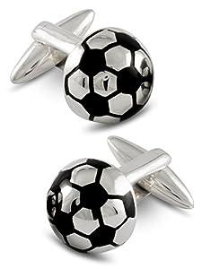 ZAUNICK Soccer Cufflinks Sterling Silver