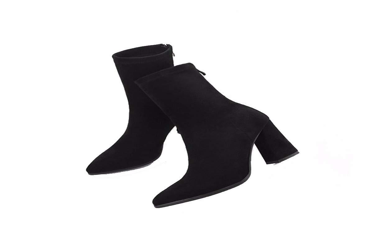GTVERNH Damenschuhe Mode Mode Mode Frauen - Stiefel Spitzen Stiefeln Dicken Betuchte Mode Strecken. a83699